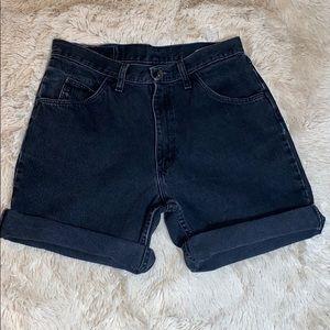 VTG WRANGLER Denim High Rise Jean Black Shorts